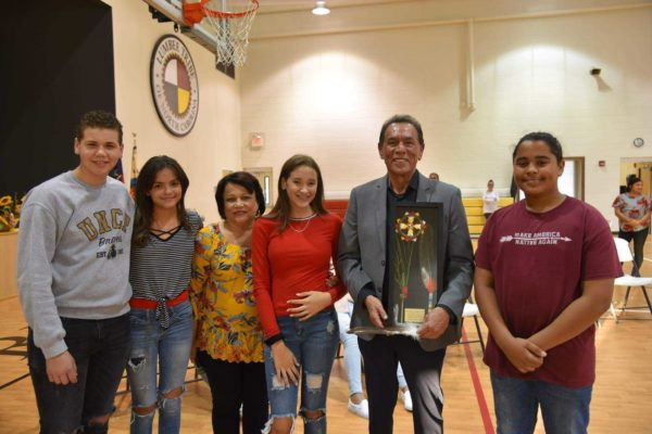 American Indian Actor Wes Studi Visits the Pembroke Boys and Girls Club