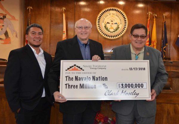 Navajo Transitional Energy Company Contributes $3 Million to the Navajo Nation