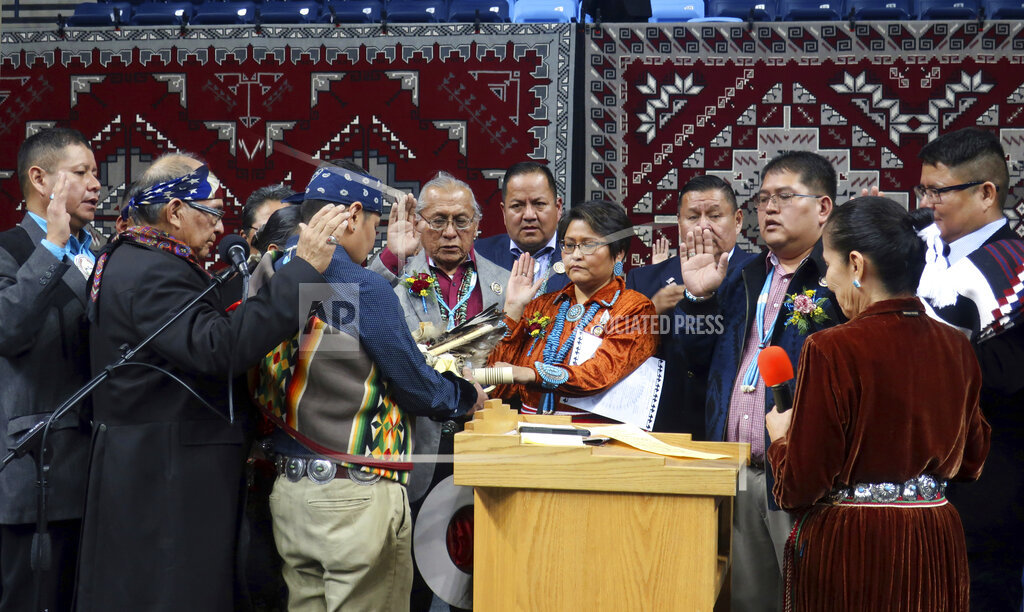 New leader of Navajo Nation delivers message of hope, change