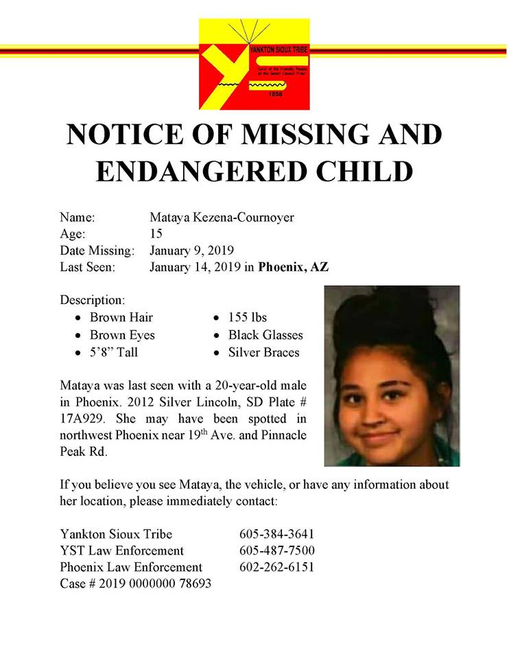 Law Enforcement Needs Help to Locate Missing 15-year-old Native Teen