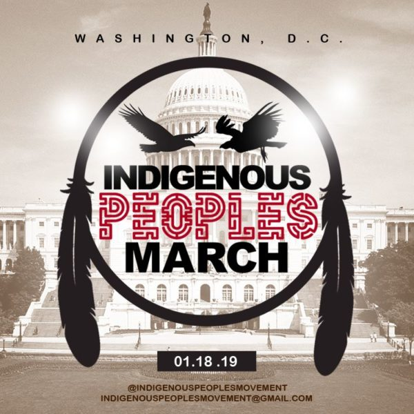 Indigenous Peoples to March in Washington, D.C. on January 18th