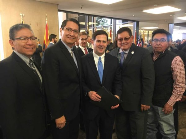 Navajo Nation Council Congratulates Arizona Leaders at Inauguration Ceremony