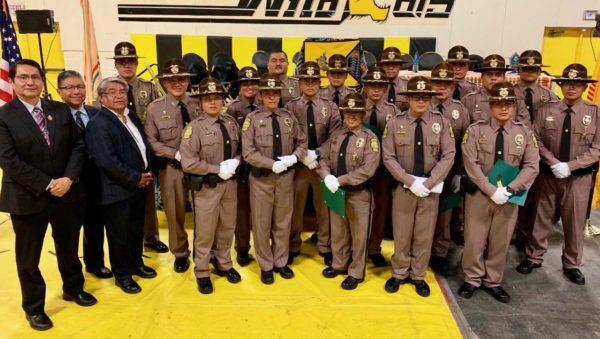 Navajo Nation President & Vice President Congratulate NavajoPolice Training Academy Class 53 at Graduation Ceremony