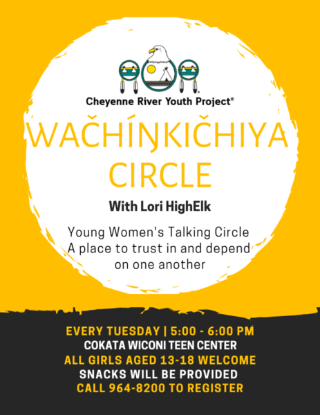 Lori High Elk Leads Young Women's Talking Circle Every Tuesday at the Cheyenne River Youth Project