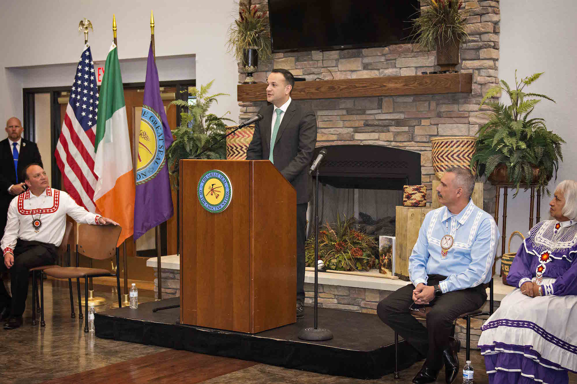 Irish Prime Minister Visits Choctaw Nation to Thank Them for Famine Donation Made 172 Ago