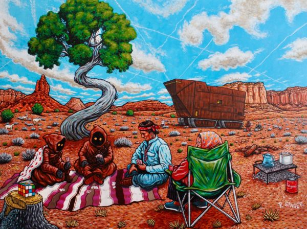 Albuquerque Artist Blends Personal Memories, Indigenous Narratives & 20th Century Pop Culture