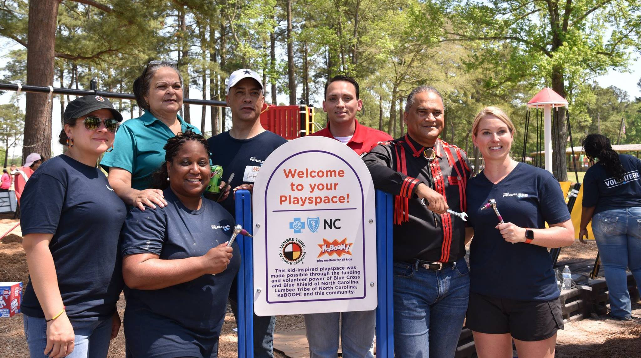 Blue Cross & Blue Shield of North Carolina and KaBOOM! Put Kids First by Increasing Access to Play at Lumbee Tribe Cultural Center