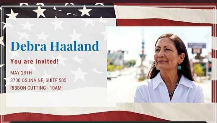 Rep. Deb Haaland to Cut Ribbon at Turquoise Skies Gallery on Tuesday, May 28th