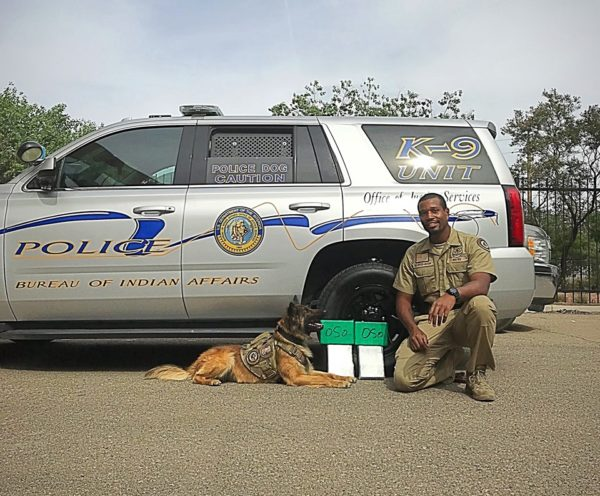 Interior's Law Enforcement K-9 Unit Apprehends Heroin Traffickers and $559,000 in Heroin in New Mexico