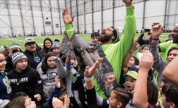 NFL Super Bowl Champion Michael Bennett Hosts Free Sports Camp   for Tribal Boys & Girls at Tulalip Sunday