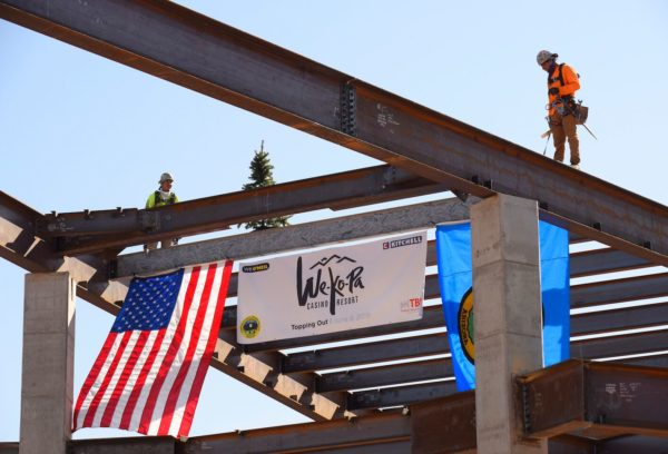 """Topping-Out Ceremony"" Marks Debut of New We-Ko-Pa Casino Resort Name and Logo"