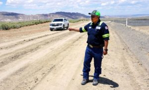 NTEC and Bisti Fuels Use Reclamation Process to Realign Road