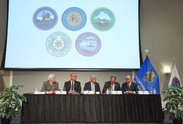 Oklahoma Tribal Leaders Sign Joint Resolution Opposing Governor's Repudiation of the State/Tribal Gaming Compacts