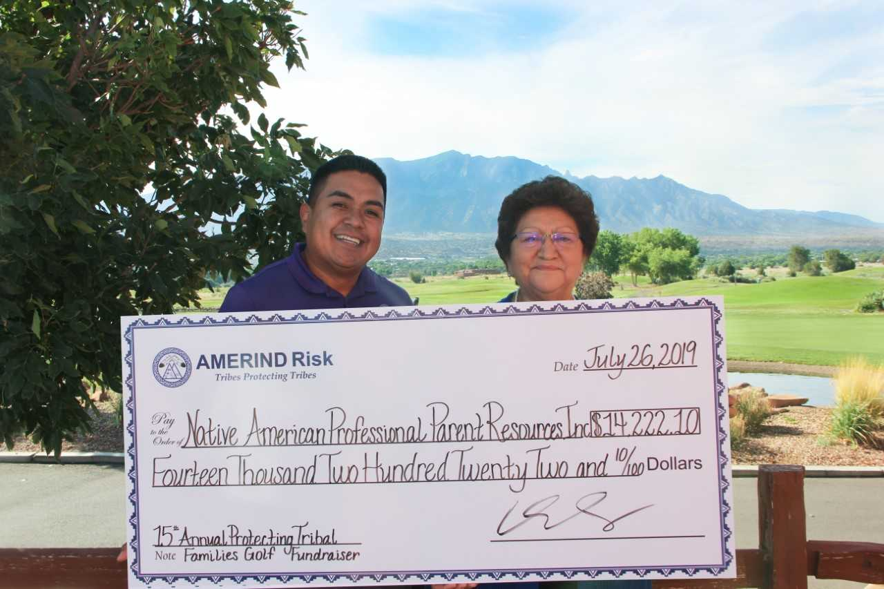 AMERIND Risk Presents $14,222.10 to Golf Fundraiser Beneficiaries