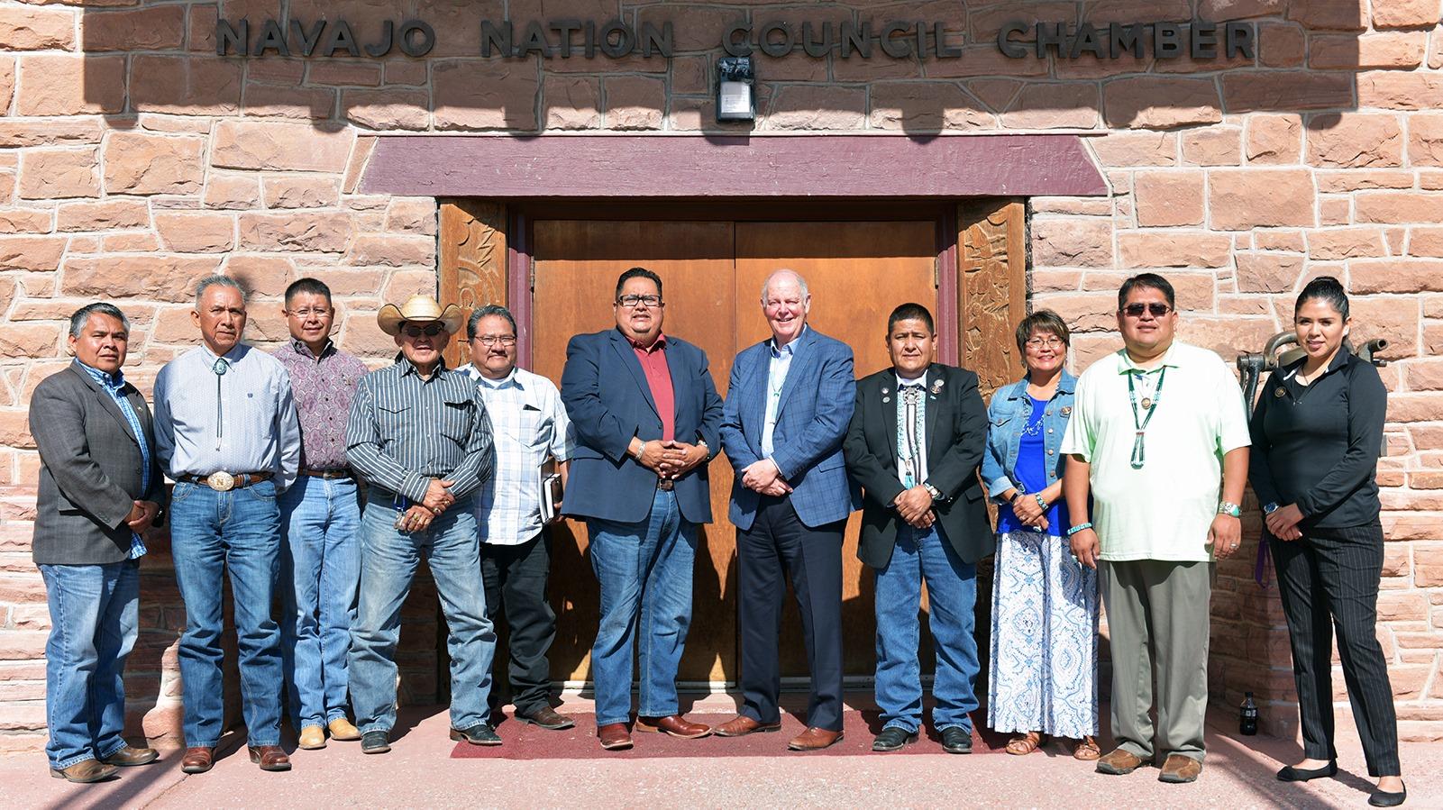 US Representative Tom O'Halleran Delivers Report from Congress to Navajo Nation Council Delegates