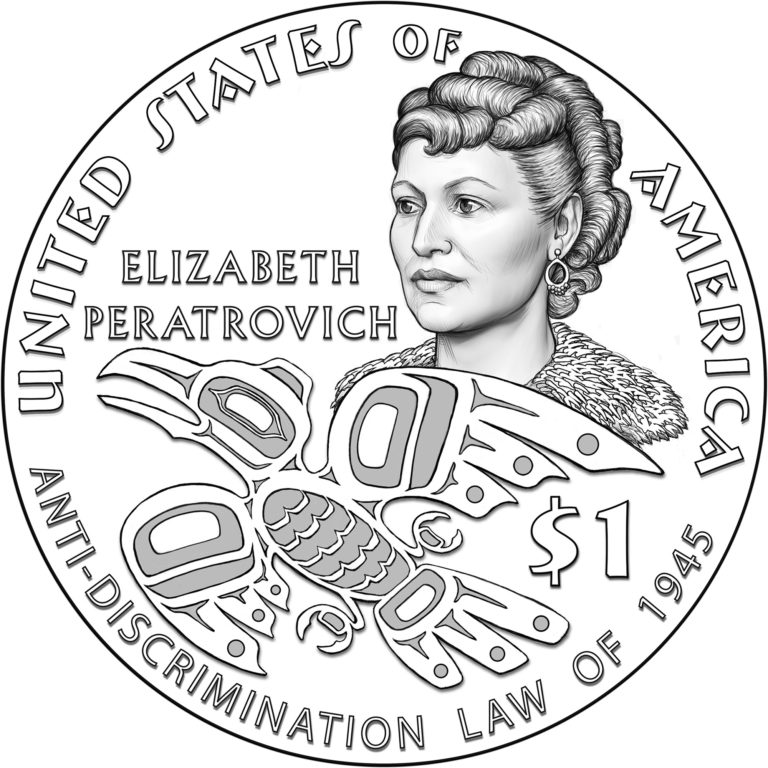 Alaska Native Elizabeth Peratrovich to be Featured on 2020 Native American $1 Coin