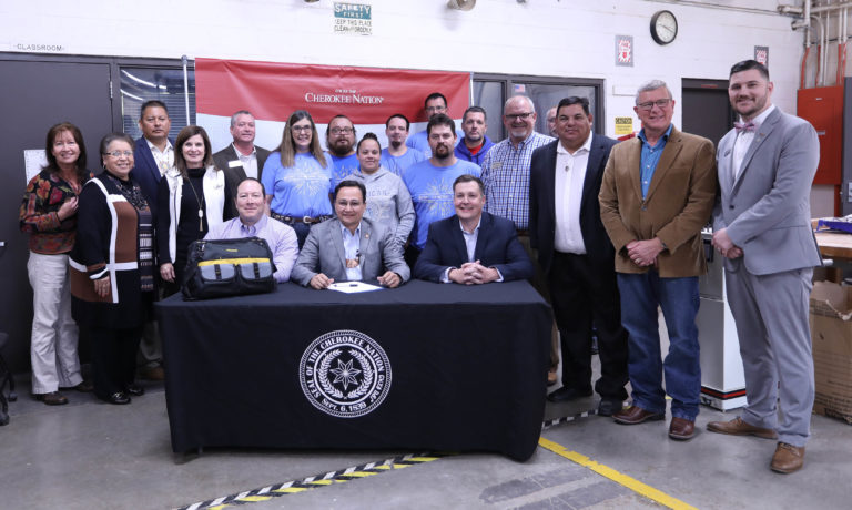 Cherokee Nation Principal Chief Hoskin signs Cherokee Nation Career Readiness Act