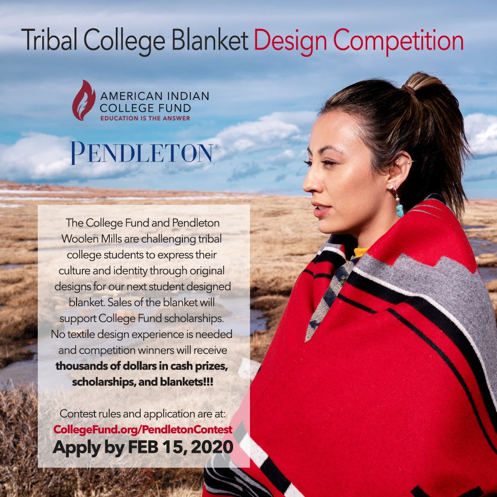 Calling Native American Student Artists! American Indian College Fund, Pendleton Host Design Contest