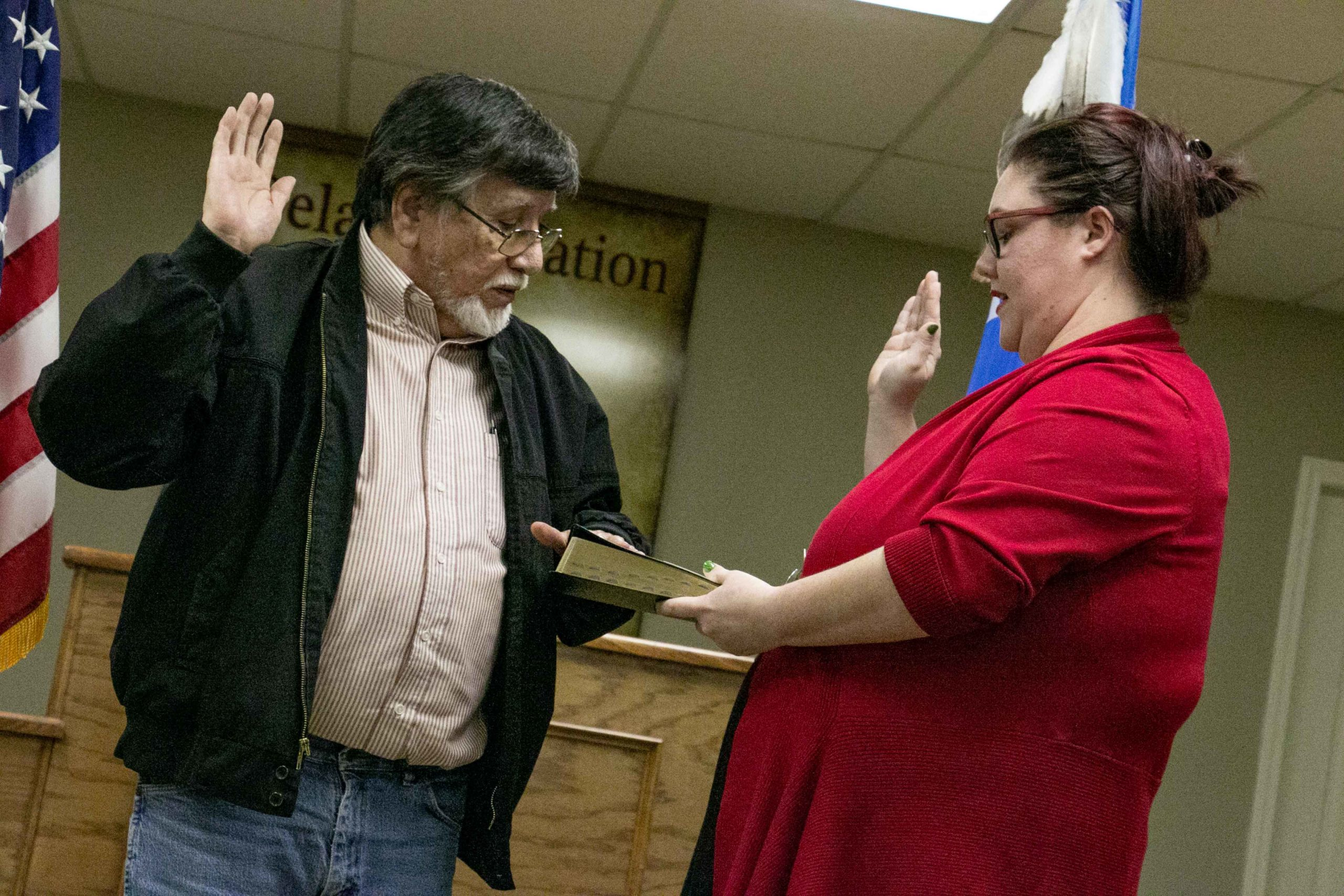 Delaware Nation Welcomes New Executive Committee Person During Swearing-In Ceremony