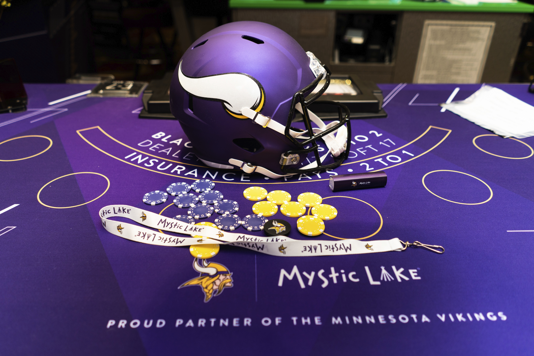 Mystic Lake Unveils New Minnesota Vikings-Themed Gaming Area