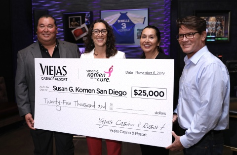 Viejas Casino & Resort Donates $25,000 to Susan G. Komen San Diego