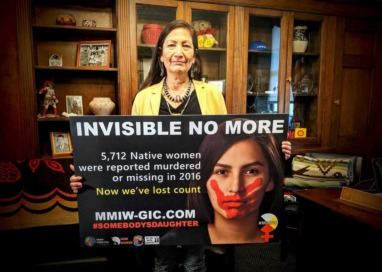 Haaland's Bill to Bolster Efforts to Address Missing and Murdered Indigenous Women's Crisis Clears House Natural Resources Committee