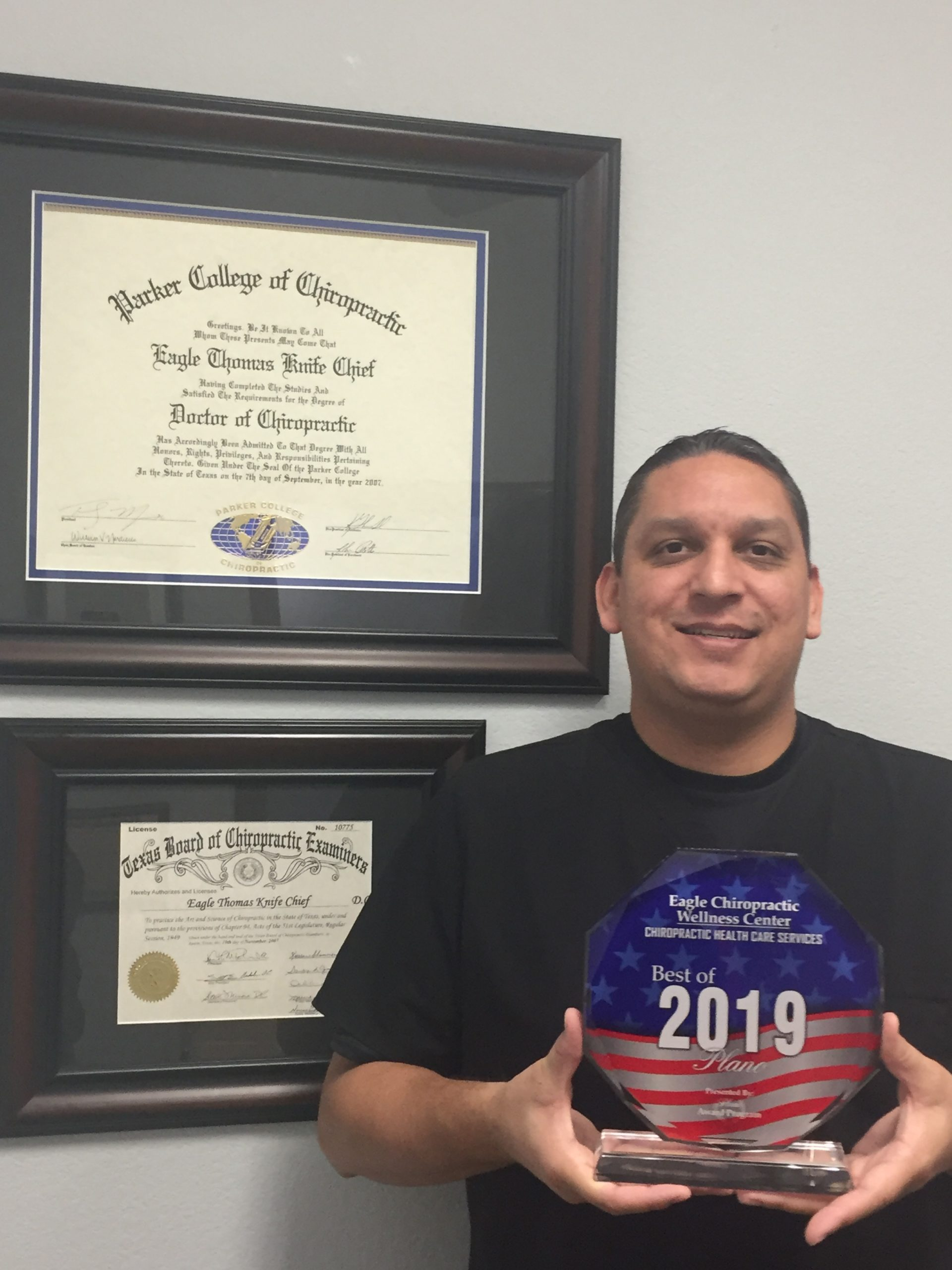 Native-owned Eagle Chiropractic Wellness Center Receives Award