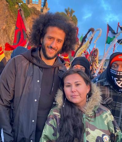 Colin Kaepernick Attends Indigenous People's Sunrise Ceremony on Alcatraz Island on Thursday