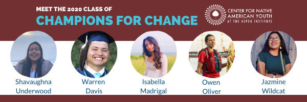 Center for Native American Youth Announces 2020 Champions for Change
