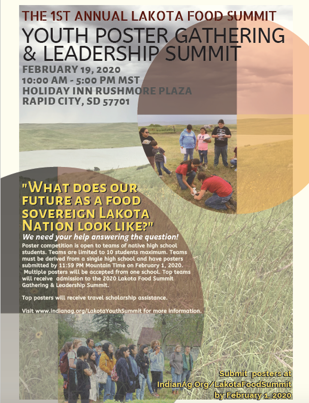 The Intertribal Agriculture Council is accepting poster submissions for the 2020 Lakota Youth Food Summit