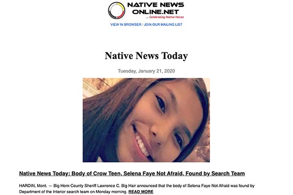 Note from Editor: Native News Online Improves Subscriber Email Delivery