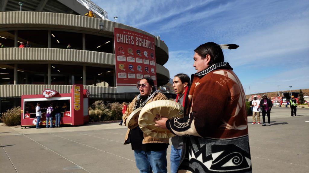 Haskell Students Protest at Arrowhead Stadium