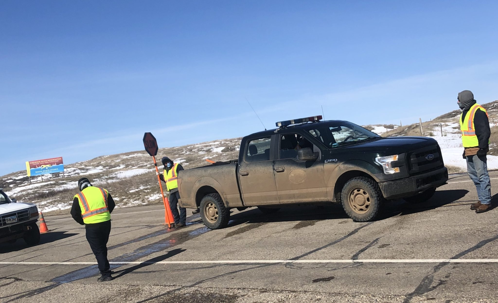 BIA and Cheyenne River Sioux Tribal Chairman Square Off on Reservation Highway COVID-19 Checkpoint