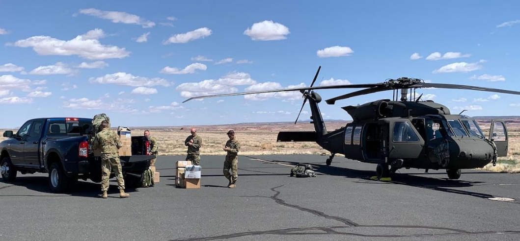 Arizona National Guard Delivers Supplies to Help Fight COVID-19 to Navajo Nation