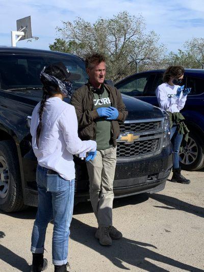 Actor Sean Penn & Celebrity Chef José Andrés Join Navajo Nation Pres. Nez at Food Distribution