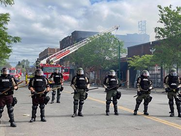 Minneapolis Youth Center Catches Fire in Riot
