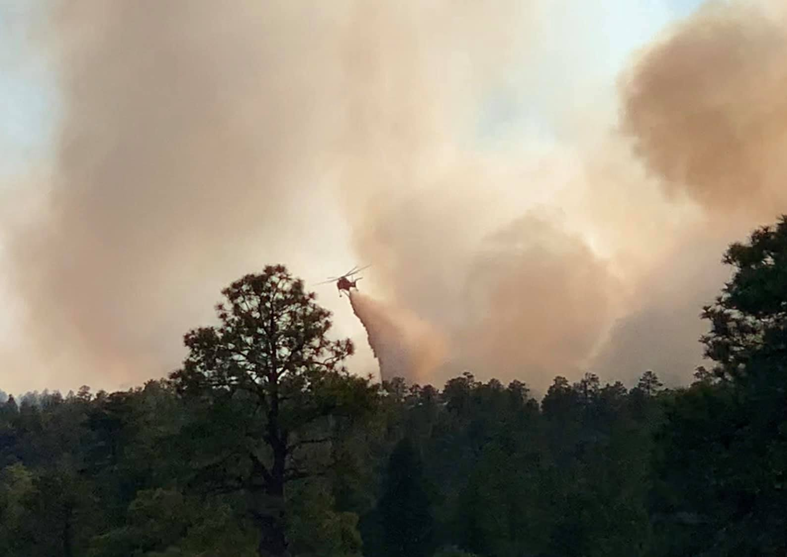 As Navajo Nation Wages War on COVID-19, Firefighters are fighting a 12,777 Acre Fire on Reservation